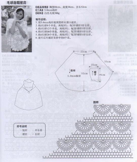 Пончо вязанное крючком схемы для женщин