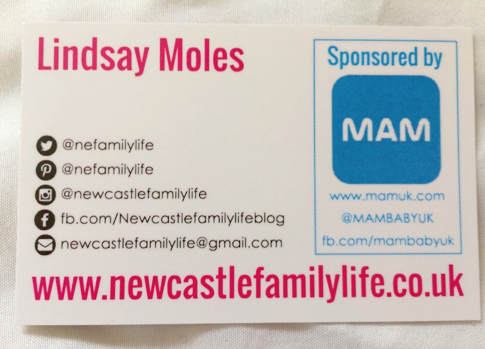 Newcastle Family Life: Blog Business Cards From StressFreePrint