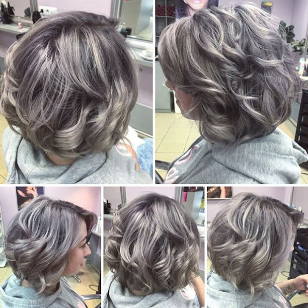 trendy hairstyles in gray ashy