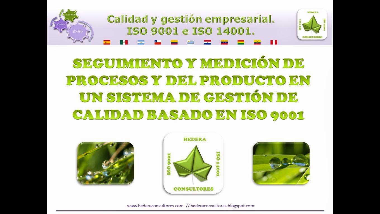 Seguimiento y medición de los procesos ISO 9001