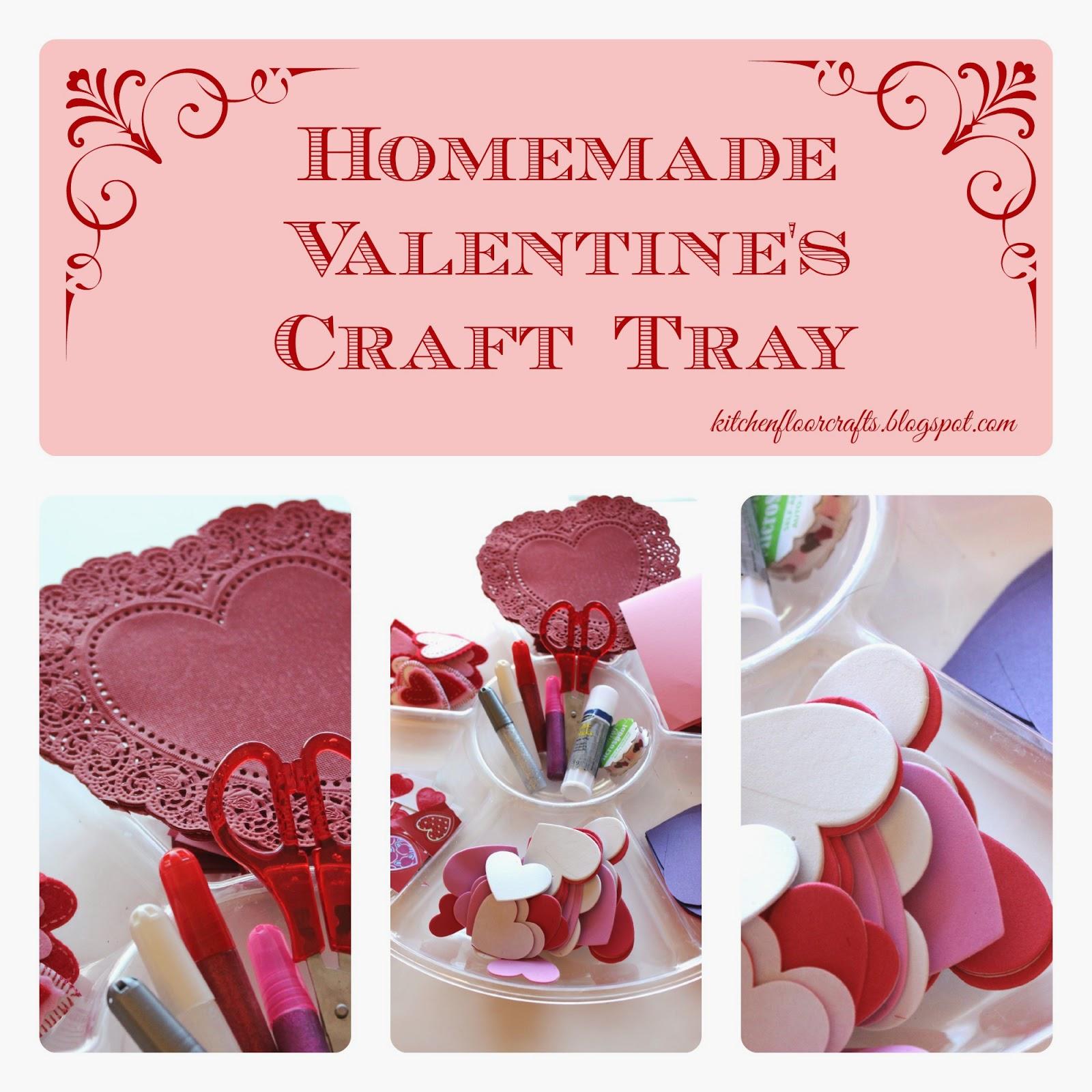 Book Cover Handmade Valentines : Kitchen floor crafts homemade valentine s craft tray