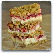 Cranberry Orange Cheesecake Streusel Bars