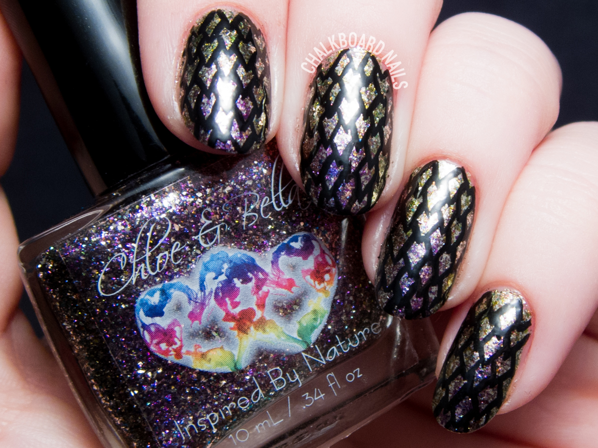 Dragon Scale Nail Art with Chloe & Bella - Dragon Scale Nail Art With Chloe & Bella Chalkboard Nails Nail