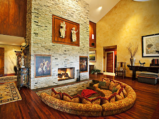 room with fireplace wallpaper (21)