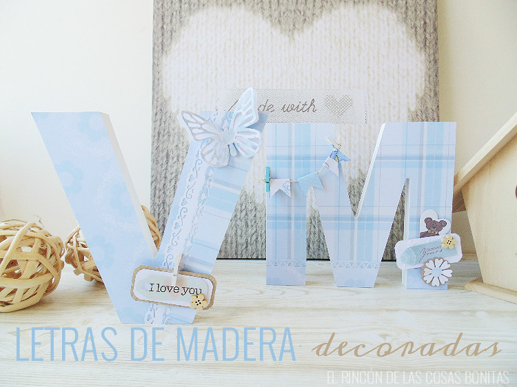 letras de madera bebes decoradas scrapbooking