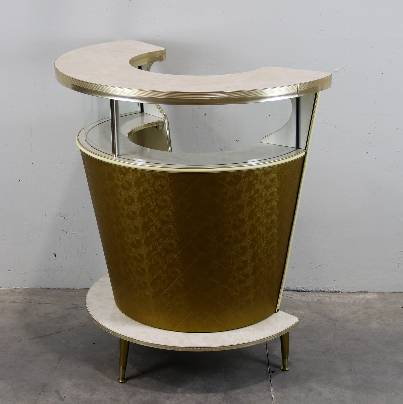 Barra de mosca compac dorada vintage