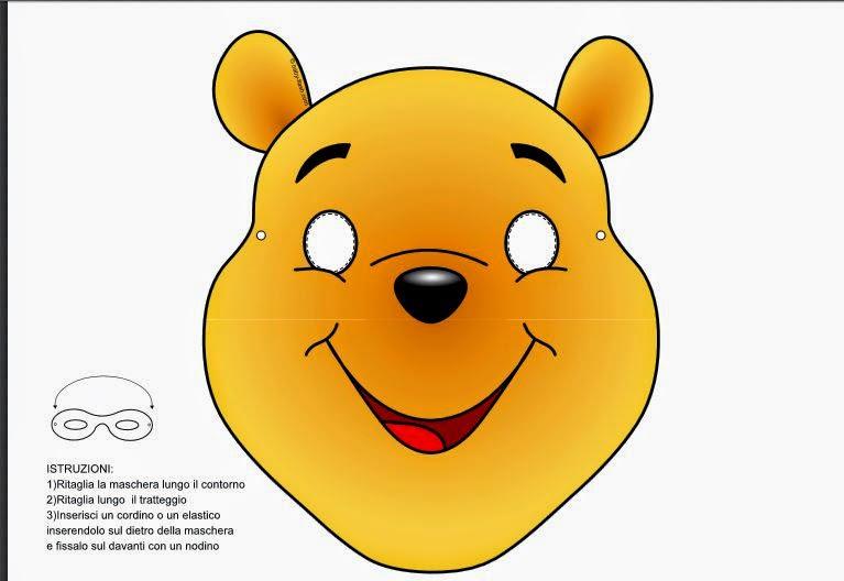 máscara en color de Wnnie the Pooh