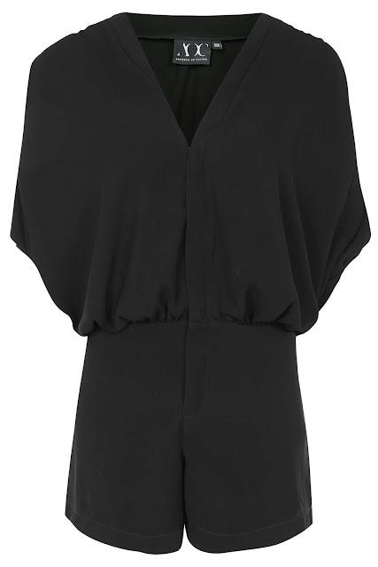 black loose fit playsuit, absence of colour playsuit, black kimono playsuit,