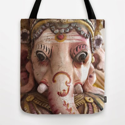Ganesha on tote bag