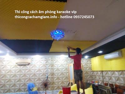 Thi công cách âm cho phòng karaoke tại gia