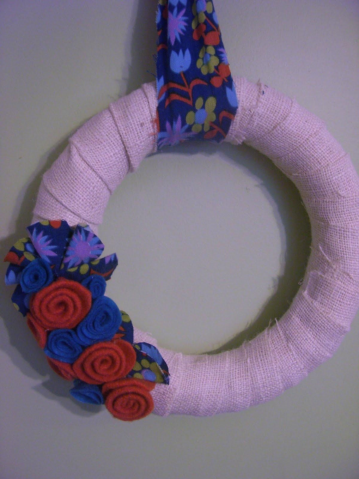 how to make felt flowers for wreaths