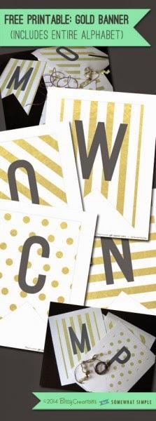 Ondeungende Spruit Letterbanner DIY gratis