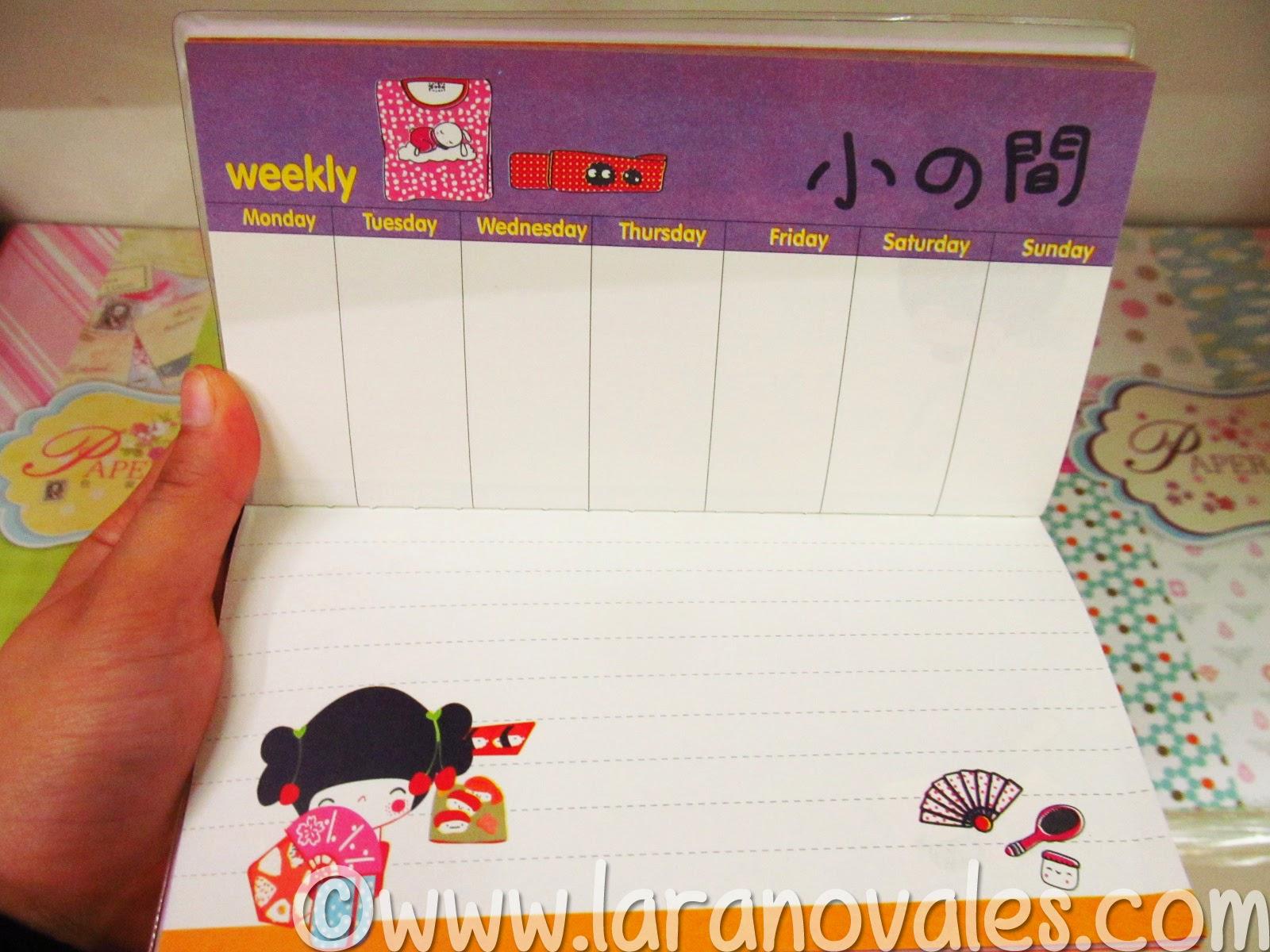 kokeshi Doll Planner organizer Oki Doki Crafts2