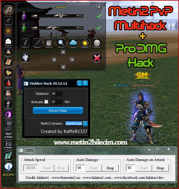 Metin2 PvP m2k-Mod Multihack 1.3 & Pro DMG Hilesi
