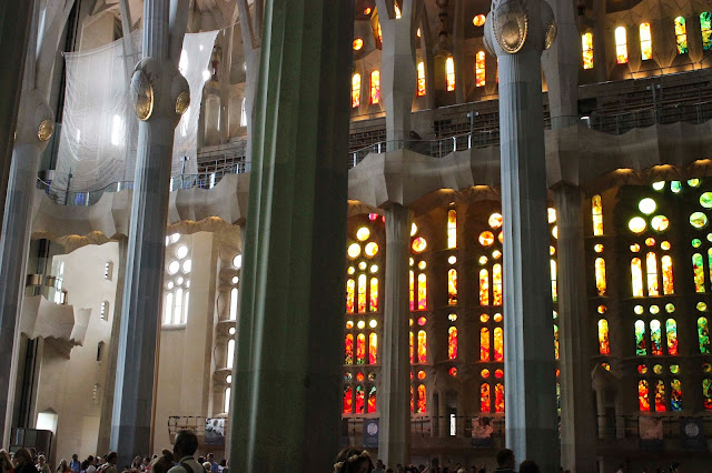 Columns & Stained Glass | La Sagrada Familia | Chichi Mary Blog