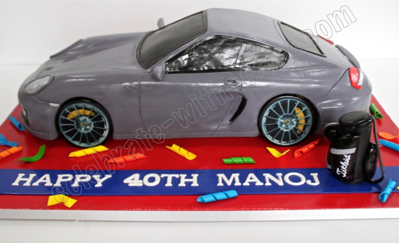 Celebrate with Cake Sculpted Porsche Cayman S Car Cake