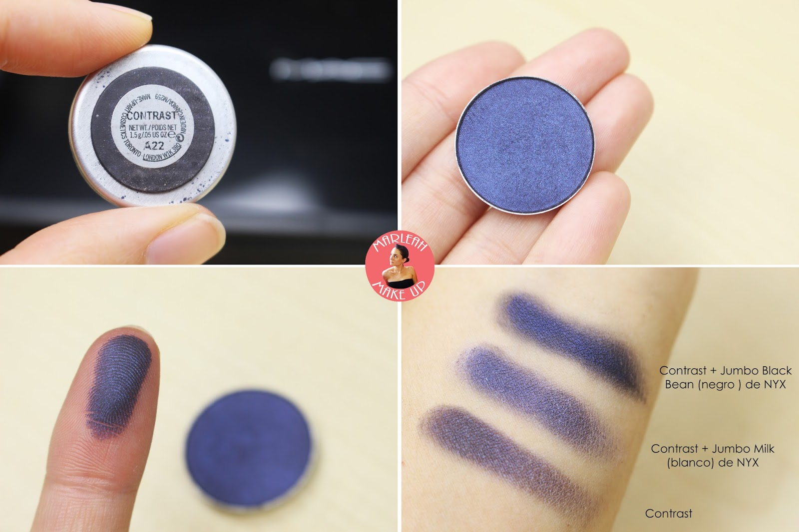 sombras eyeshadow MAC contrast makeup palette godet nyx milk black bean