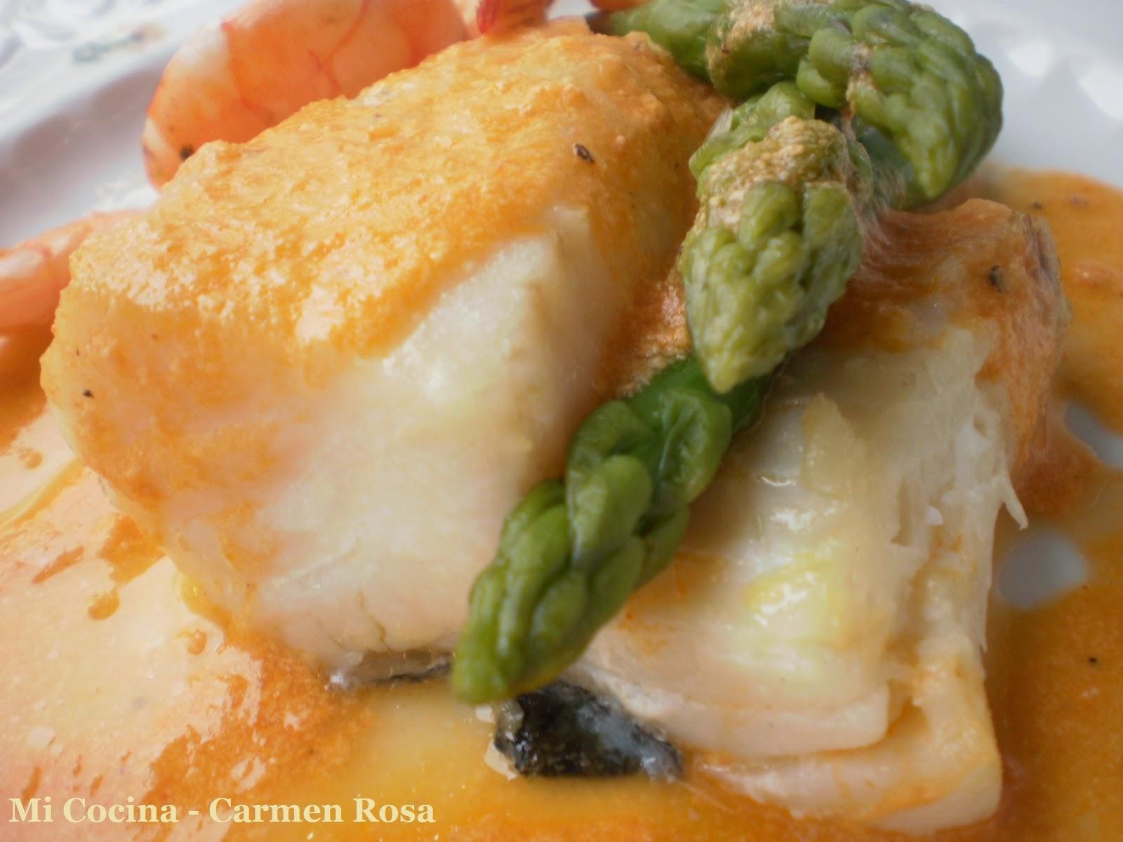 Mi cocina lomos de bacalao al horno con salsa de for Como cocinar bacalao al horno