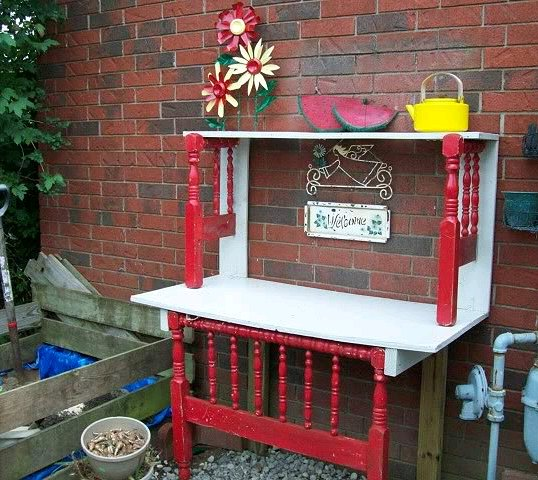I Love A Potting Bench With An Old Sink Added! By Lori J Via Hometalk