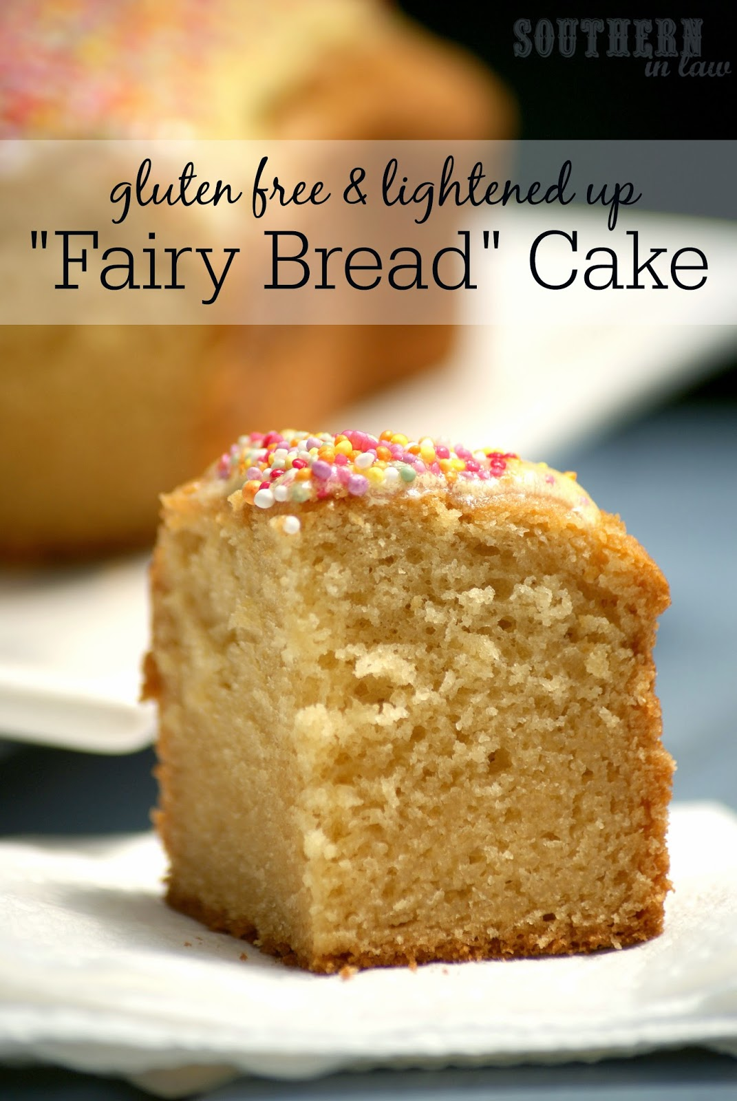 Healthy Fairy Bread Cake Recipe - Gluten Free Butter Cake Recipe - Lower fat, lower sugar, gluten free, kid friendly, healthy kids party recipes, cake recipes