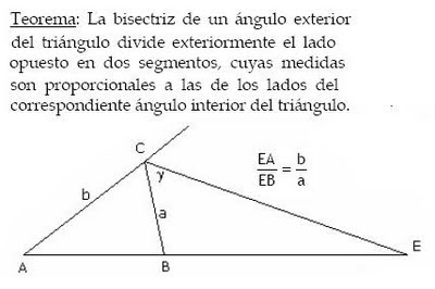 Diccionario matematicas teorema bisectriz angulo exterior for Definicion exterior