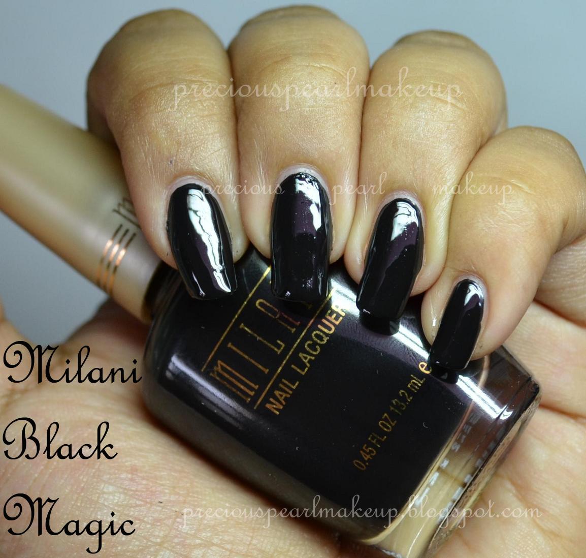 preciouspearlmakeup: Milani Nail Lacquer Black Magic