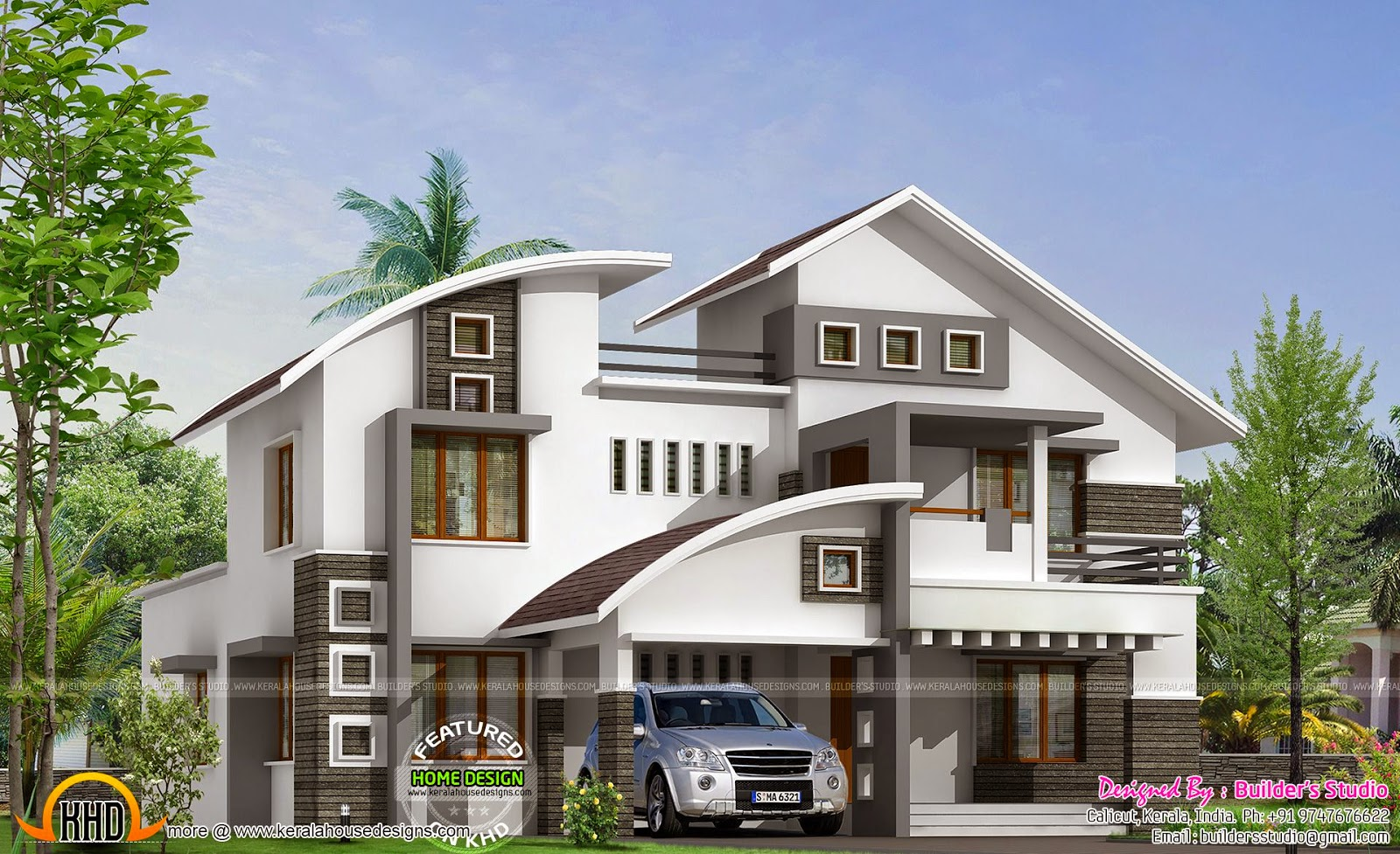 Front Elevation Of Duplex House In 700 Sq Ft : Sq ft modern house kerala home design and floor plans