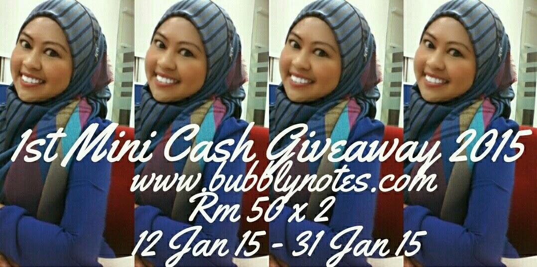 1st Mini Cash Giveaway 2015