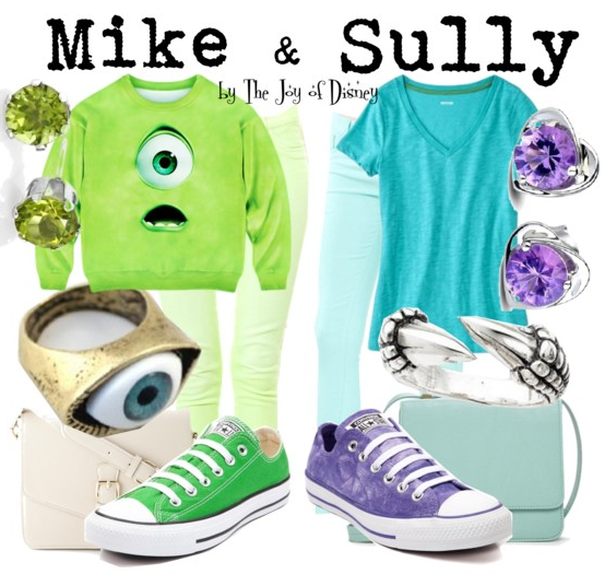 Mike & Sully Monsters Inc Outfits