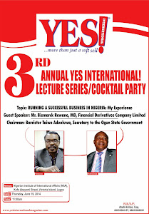 YES Magazine 3rd Annual Lecture