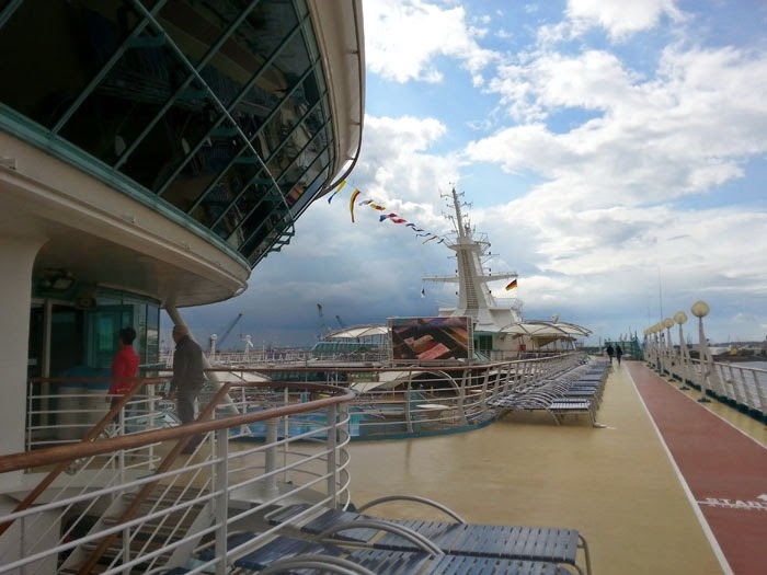 Outdoor cinema on Royal Caribbean's Legend of the Seas