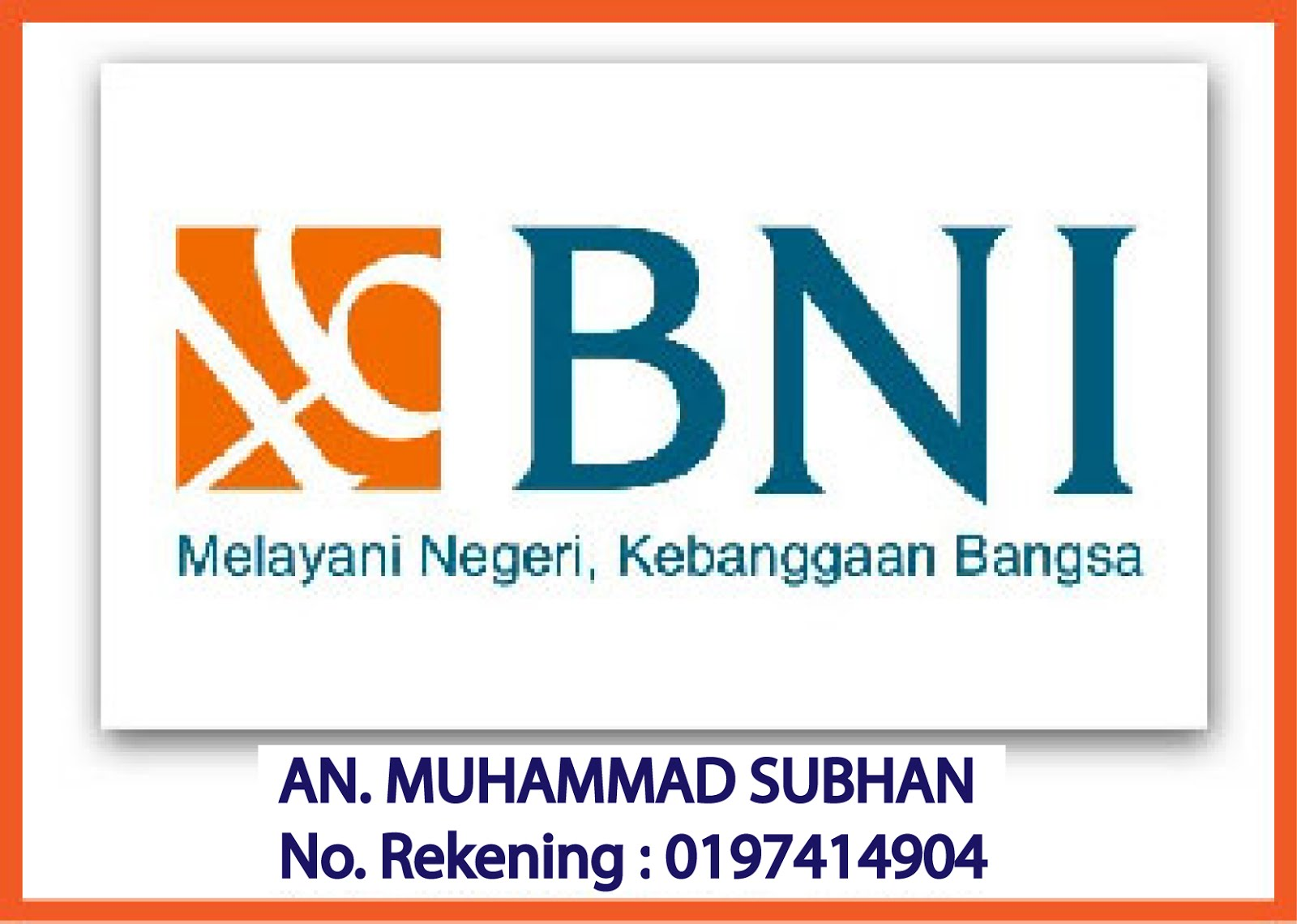 No. Rekening Bank BNI