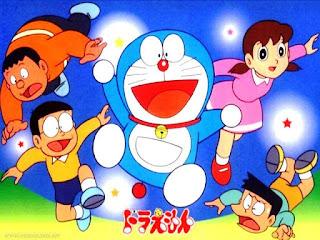 Wallpaper gambar Doraemon dan teman-teman