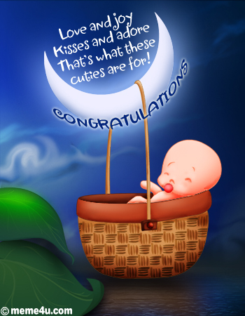 Congratulations new baby lets celebrate congratulations new baby wish your friends or family member congratulations on the new addition to their family with one of these greetings m4hsunfo