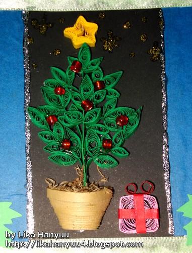 Aparador Antiguo Sevilla ~ Lika Hanyuu uff0d Artesanato Quilling [Quilling] Cart u00e3o comÁrvore de Natal 2