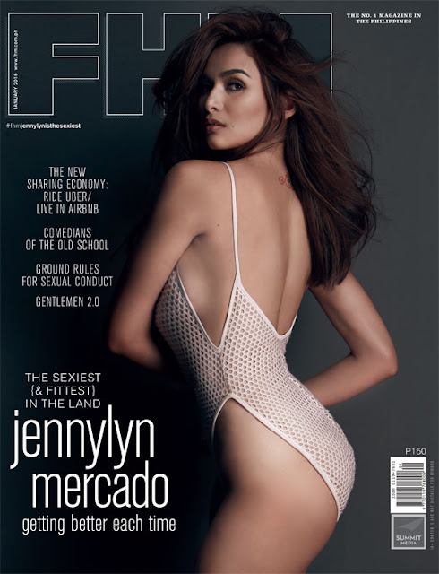 Jennylyn Mercado on the cover of FHM January 2016