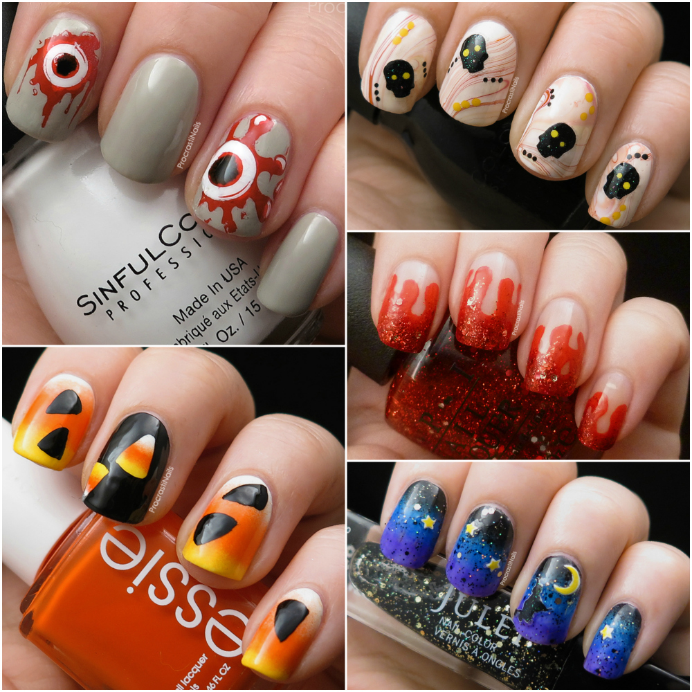 Looking Back at My Top 5 Halloween Nail Art Designs - ProcrastiNails