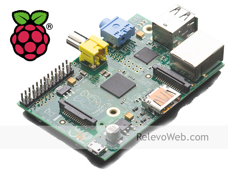 logo y placa raspberry pi