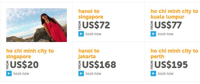 Tiger Air bán vé đi Sing chỉ 20$