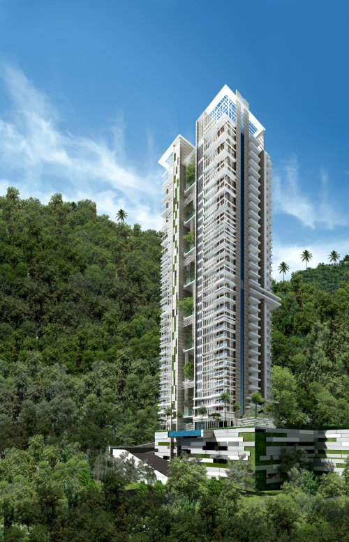 Asiantowers modern living in a natural setting Modern residential towers