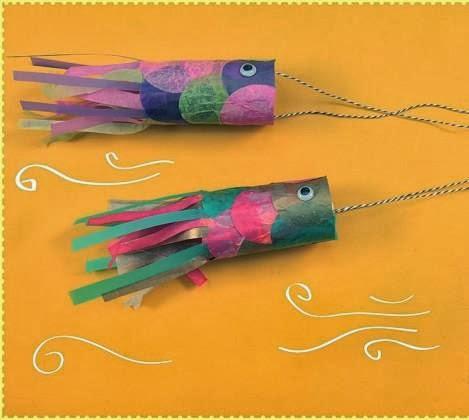 Manos a la obra como hacer peces con tubos carton for Como hacer un lago para peces