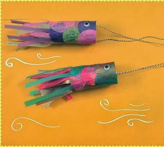 Manos a la obra como hacer peces con tubos carton for Como construir estanques para peces