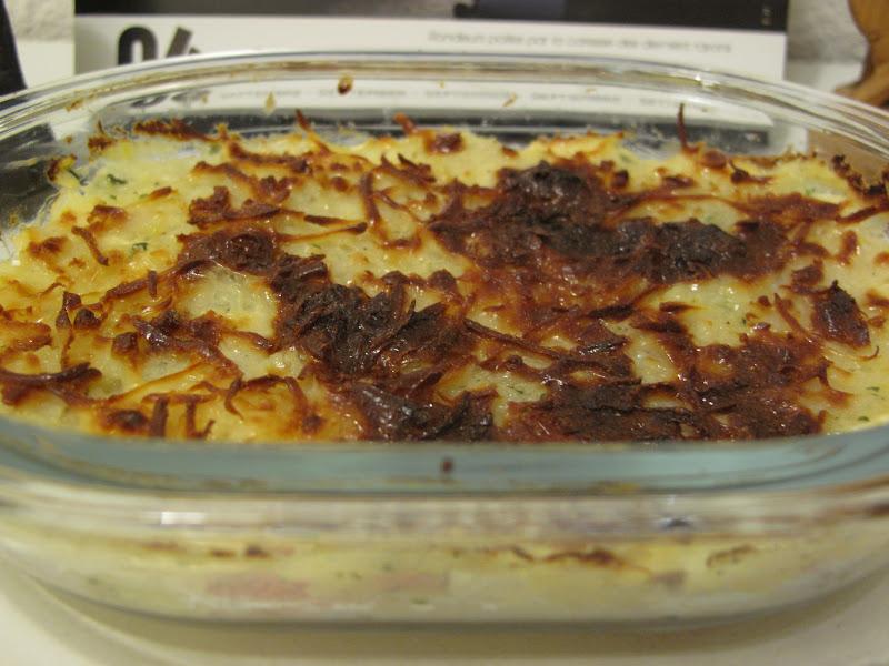 Gourmandises homecooked plat gratin chou fleur pomme de terre r p de jambon et b che de - Gratin de pomme de terre jambon ...