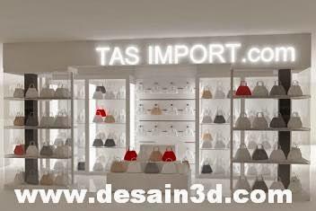 Desain Interior Toko Tas Import