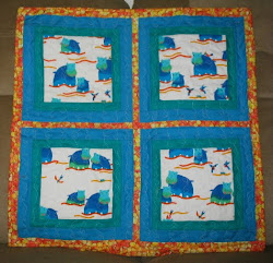 Hippo baby quilt