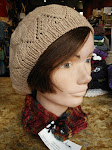 Hand knit hat and neckwarmer by local, Ellen of A Yarn Lover.