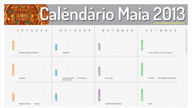 calendário Maia 2013
