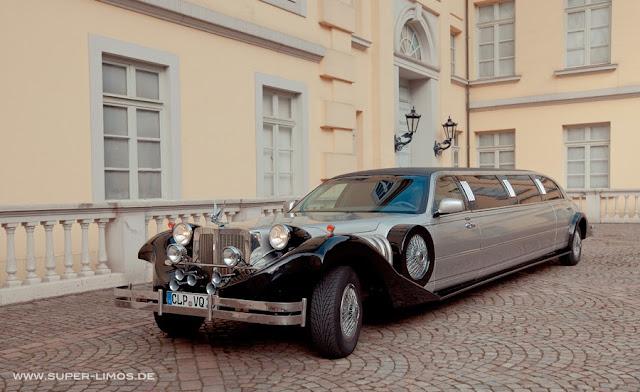 Excalibur Limousine black/ silver. Hochzeitsauto, Hochzeitslimo.