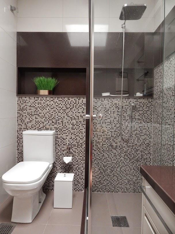 Banheiros com pastilhas  37 modelos decorados  Decor Alternativa -> Banheiro Decorado Masculino