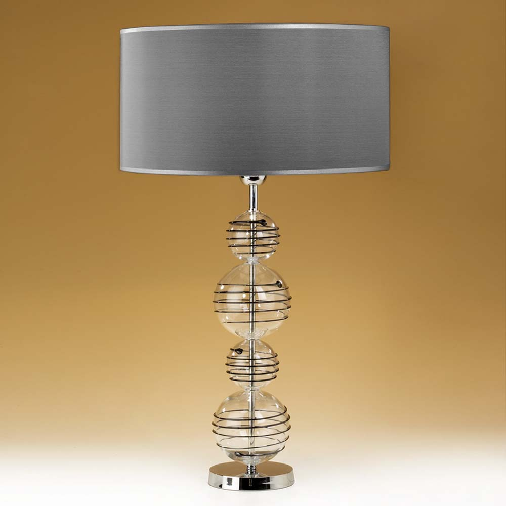 tischleuchten aus glas und kristall tischleuchte aus glas kugeln wrapped balls. Black Bedroom Furniture Sets. Home Design Ideas